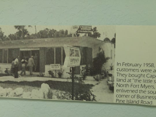 Sales office from the early days of Cape Coral.