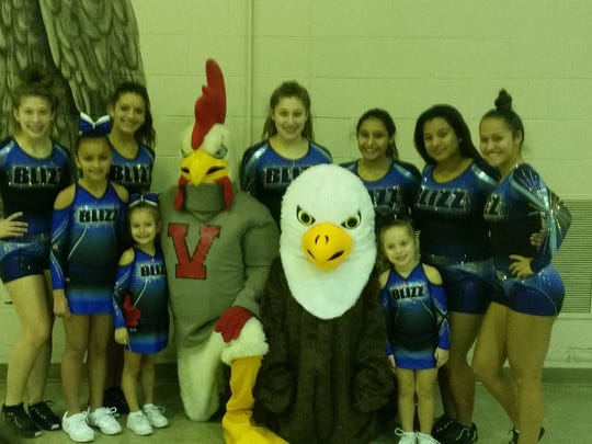 The Ellison Eagle, members of the Blizz Cheer Team
