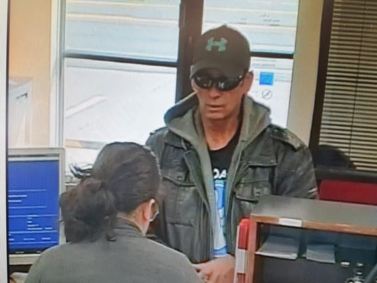Clarksville police were searching for this suspect, wanted in connection with a Thursday bank robbery.