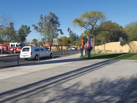 Tempe fire Capt. Kyle Brayer's funeral service in Scottsdale