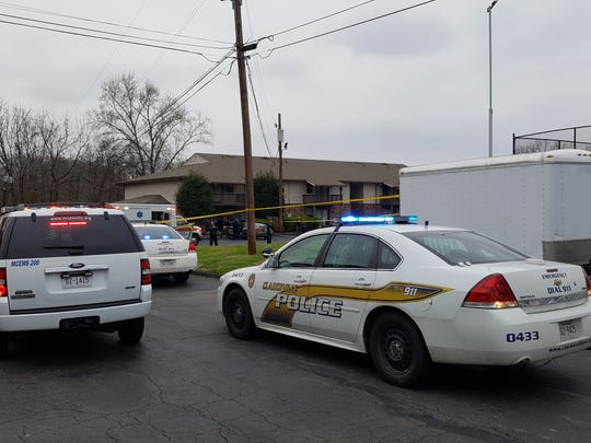 Clarksville Police respond to an apartment on Memorial