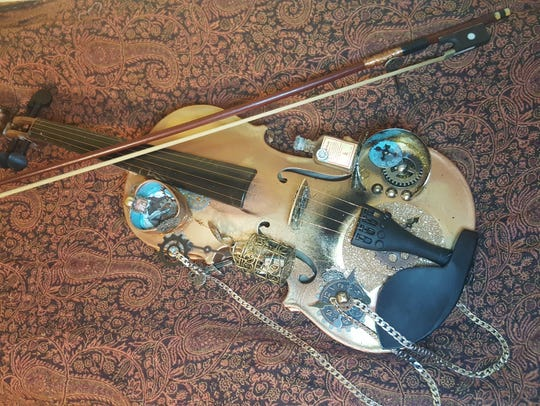 Violin art and other works, like this piece by Sheila