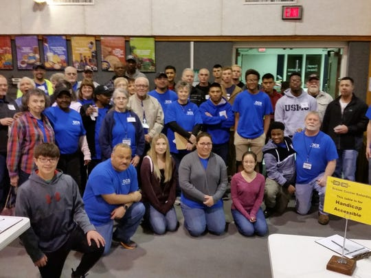 The team of Evangel Temple Dream Center volunteers took part in a recent pantry day at the Wichita Falls Area Food Bank..