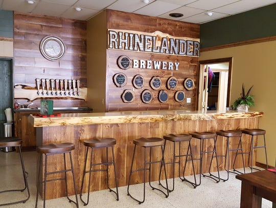 The taproom at Rhinelander Brewing Company, in Rhinelander.