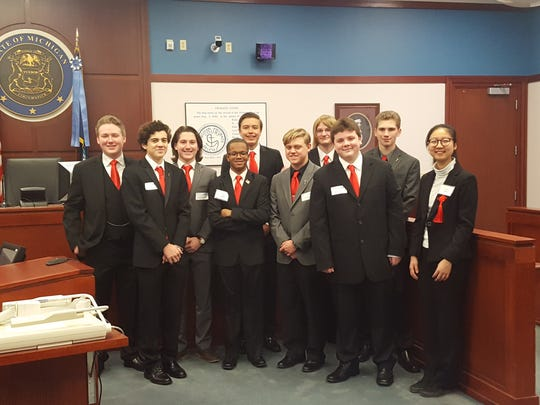 The Anchor Bay High School Mock Trial team was ninth at the state finals.