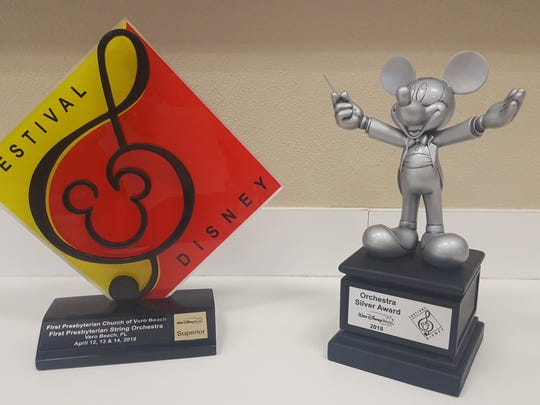 The String Orchestra returned from Festival Disney with the second place silver award and superior rating.