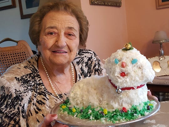 Frances Bruno of New Berlin has been making a lamb cake for Easter every year for decades; there are 50 years' worth of photos to prove it.