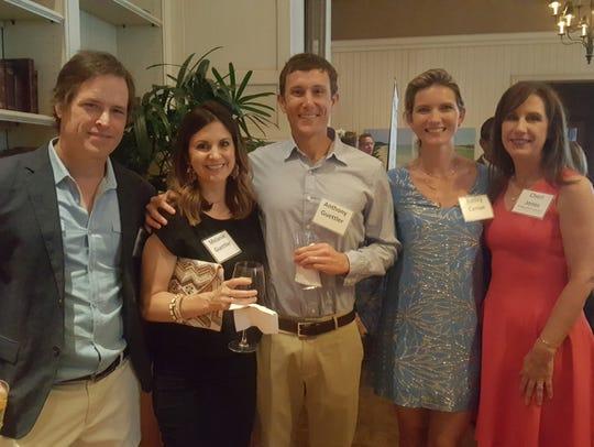 Shannon Canipe, left, Melanie Guettler, Anthony Guettler,
