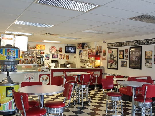 """Courtesy of Rachel Carhart The ambiance of Thee Ice Cream Parlor is a step back in time to the ?50s with a twist on an old-fashioned ice cream parlor. The ambiance of Thee Ice Cream Parlor is a """"Step Back In Time"""" to the fifties with a twist on an old fashioned ice cream parlor."""