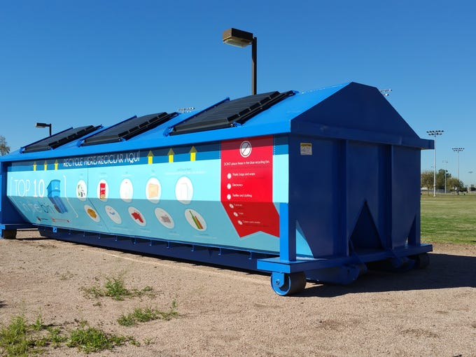 A Phoenix eco-station where apartment residents can