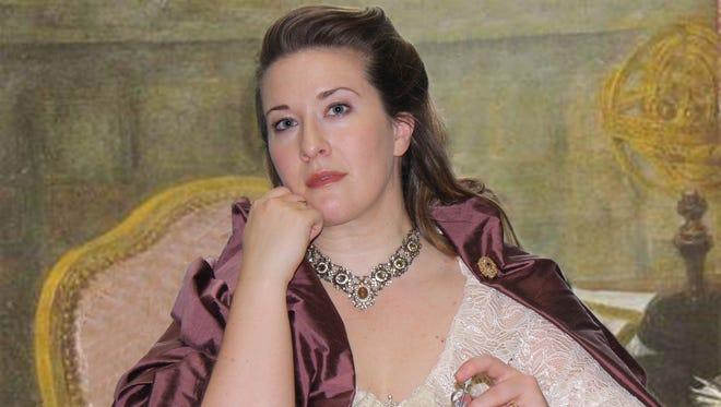 "Evelyn O'Neal Brush portrays Emilie du Châtelet in ""Emilie: La Marquise du Châtelet Defends Her Life Tonight."""