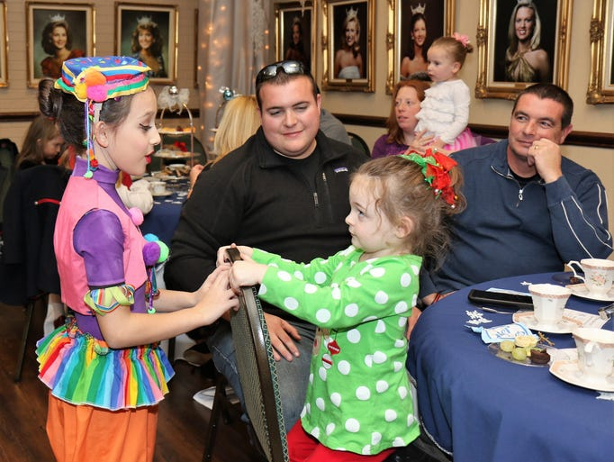 Scenes from the annual Nutcracker Tea Party in the
