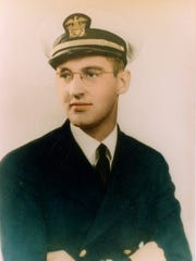 Chaplain Aloysius Schmitt is pictured in a Navy photo,