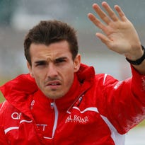 F1 driver Jules Bianchi in Japanese GP accident