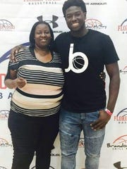 Danielle Gillens and son, Butler freshman Jerald Gillens-Butler.
