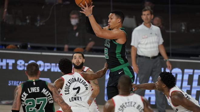 Boston's Grant Williams has been the only Celtics rookie to play in all eight postseason games, averaging 12.1 minutes off the bench.