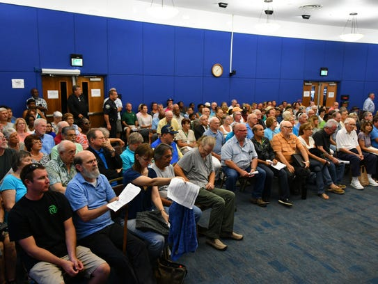 The Thursday Palm Bay City Council meeting was packed