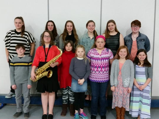 4-H members who performed at the Dodge County 4-H Music