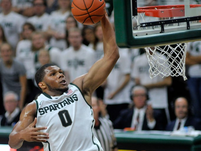 Michigan State's Marvin Clark Jr throws down a thunderous