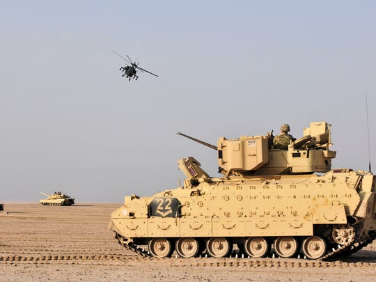 U.S. Army and Kuwaiti army and air force move to engage