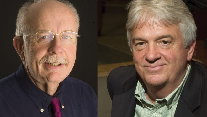 From left, Free Press accountability reporter Mike Donoghue and Executive Editor Michael Townsend.
