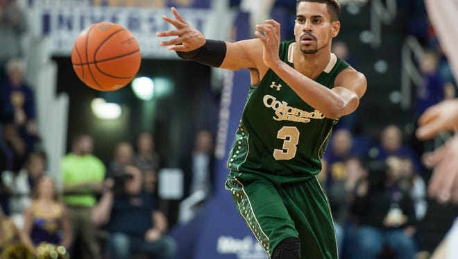 CSU guard Gian Clavell, shown in a game earlier this season, scored a career-high 35 points Saturday but the Rams lost to UTEP in double-overtime.