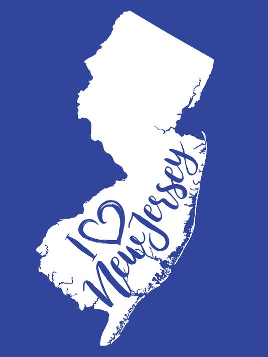 I Heart New Jersey EPS10 Vector Map