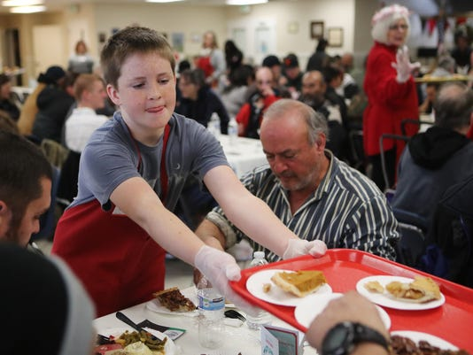 The Good News Rescue Mission Christmas banquet