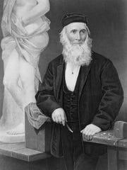 Sculptor Hiram Powers began his career in Cincinnati