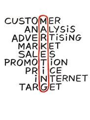 marketing crossword concept