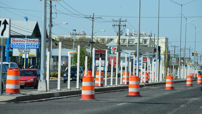 The Maryland Department of Transportation State Highway Administration is working on completing the median fence installation between 62nd Street and Convention Center Drive on Tuesday, May 1, 2018.