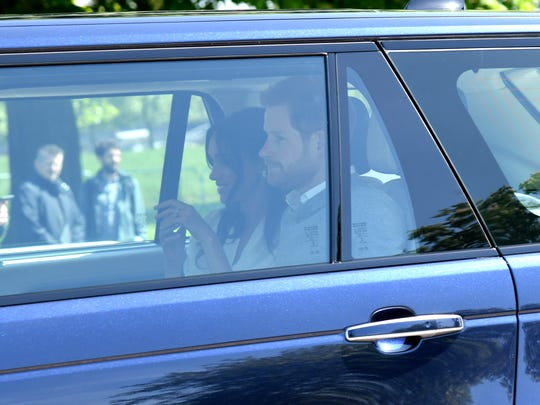 Prince Harry and Meghan Markle arrive in Windsor Thursday