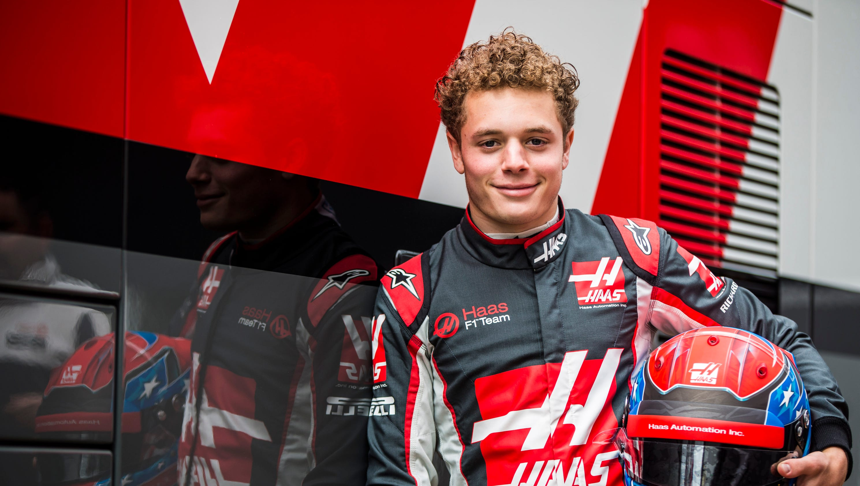 American teenager tests Formula One car for Haas F1 Team