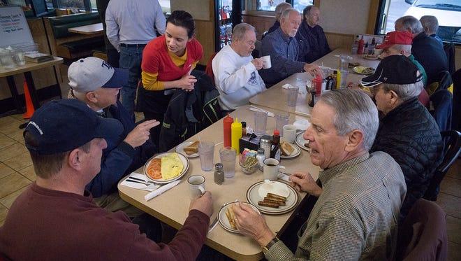 The Farmington Goodfellows gather for breakfast once a month.
