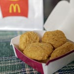 An order of McDonald's Chicken McNuggets is displayed for a photo in Olmsted Falls, Ohio