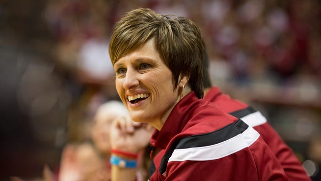 Teri Moren, in her third season at IU, picked up her 250th career win Sunday.
