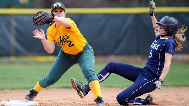 Enka and Reynolds played a key Mountain Athletic Conference softball game last week.