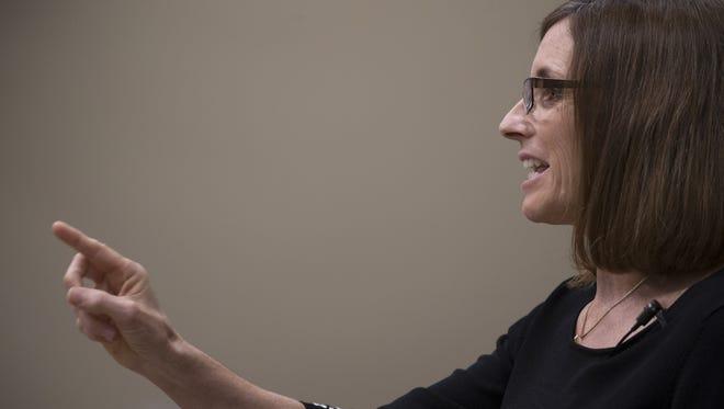 U.S. Rep. Martha McSally answers a question.