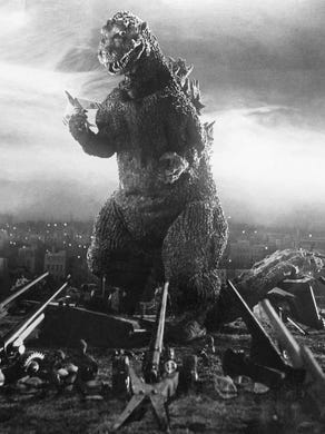 """The legendary monster first stomped on Japan in 1954's original """"Godzilla,"""" which introduced him as a metaphor for the atomic age."""