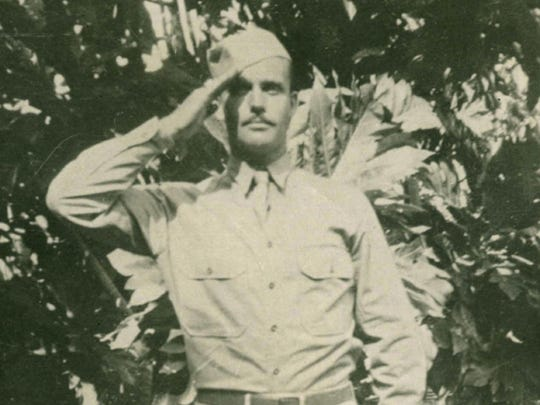 This 1942 file photo provided by Dale Ross shows his uncle, Pfc. Dale W. Ross, in Hawaii. Ross went missing in the final weeks of the World War II Battle of Guadalcanal.