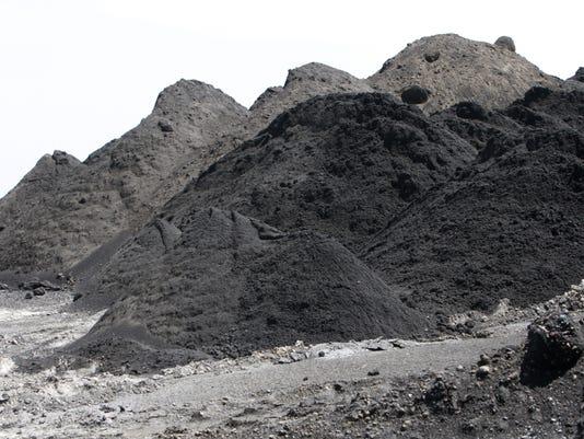 Coal ash at the John Twitty Energy Center