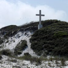 Pensacola Beach cross in April 2012.