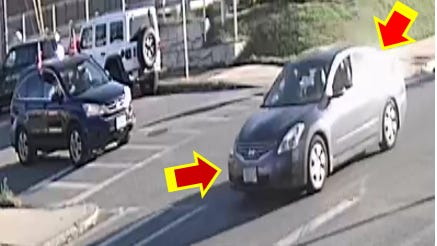 The Fall River police say the suspects in the assault were traveling in a gray Nissan Altima, depicted above.