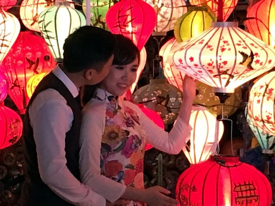 Hoi An is know for the many paper or fabric lanterns
