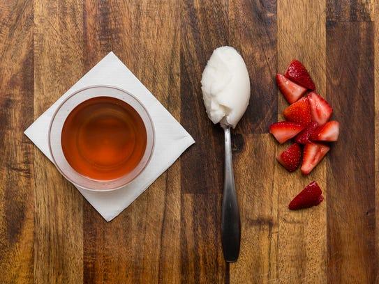 Introducing the calming mint tea float.