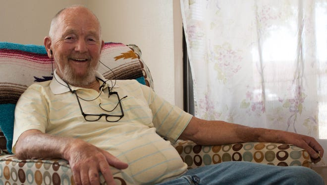 Dennis Denning, a Korean War veteran, moved into the Oak Street Apartments thanks to veterans housing transition help from the Community of Hope, which received $23,000 from Las Cruces city councilors Monday, June 20, 2016, to make up for state funding cuts.