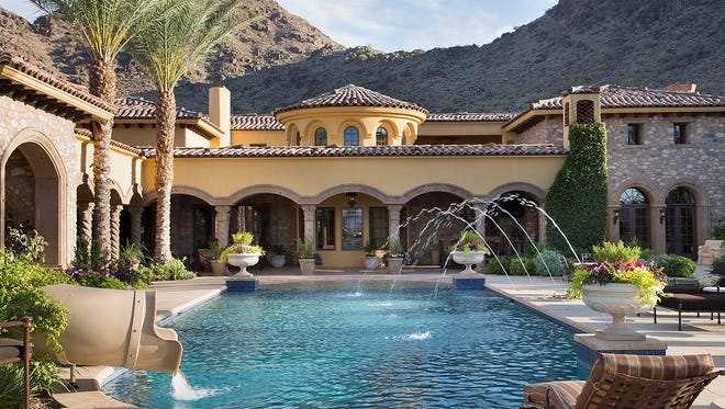 Pool view and mountains