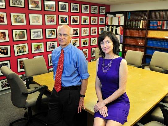Co-founders Michele Johnson and Gordon Bonnyman at