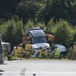 Crash diverts traffic at Battlefield and West Bypass