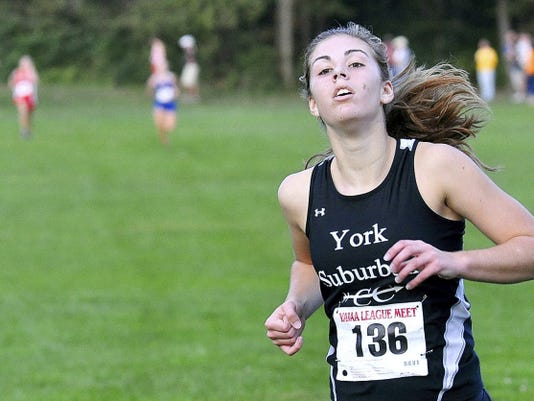 York Suburban's Olivia Gettle missed last season's postseason action with a hip injury. Gettle, who won the York-Adams meet as a sophomore in 2013, is feeling better entering her senior season.